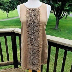 EUC Tan J crew Garden Lace Dress